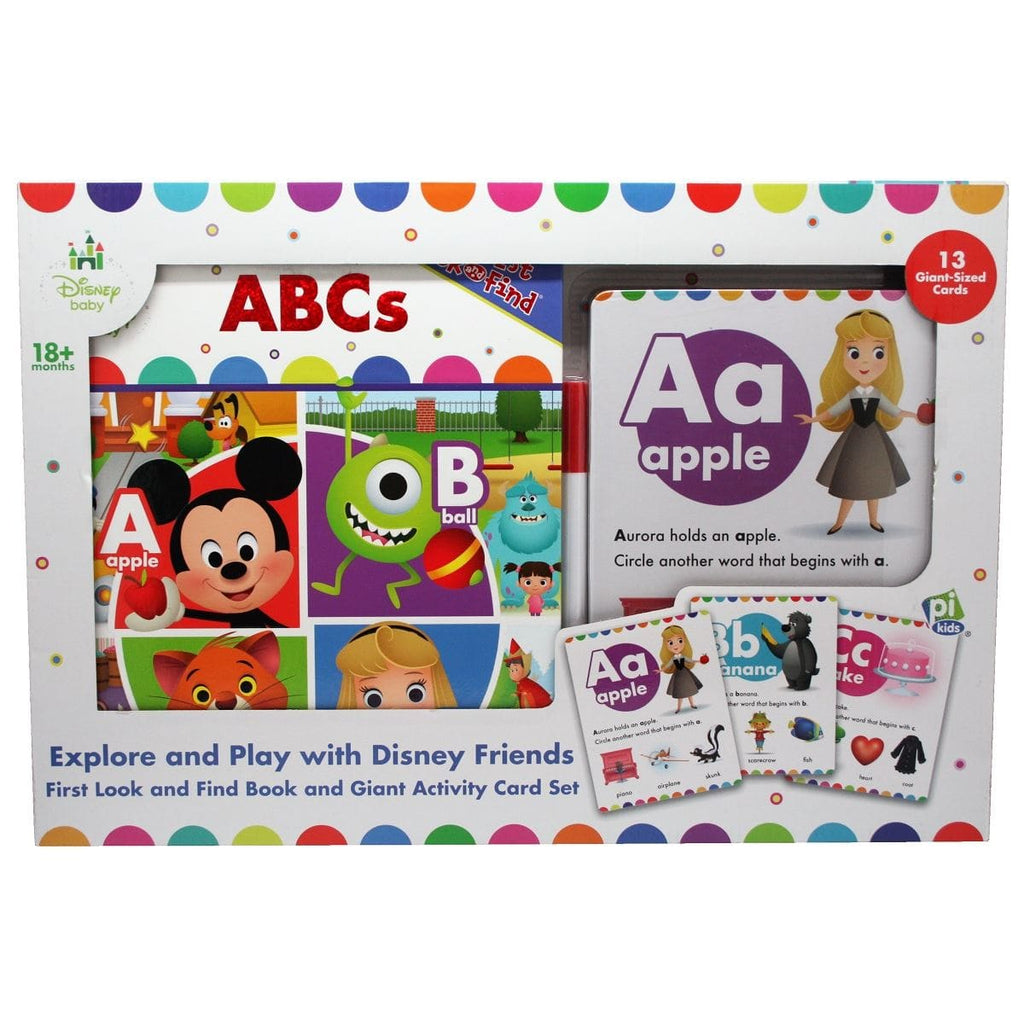 Disney Baby First Look and Find and Giant Activity Card Set