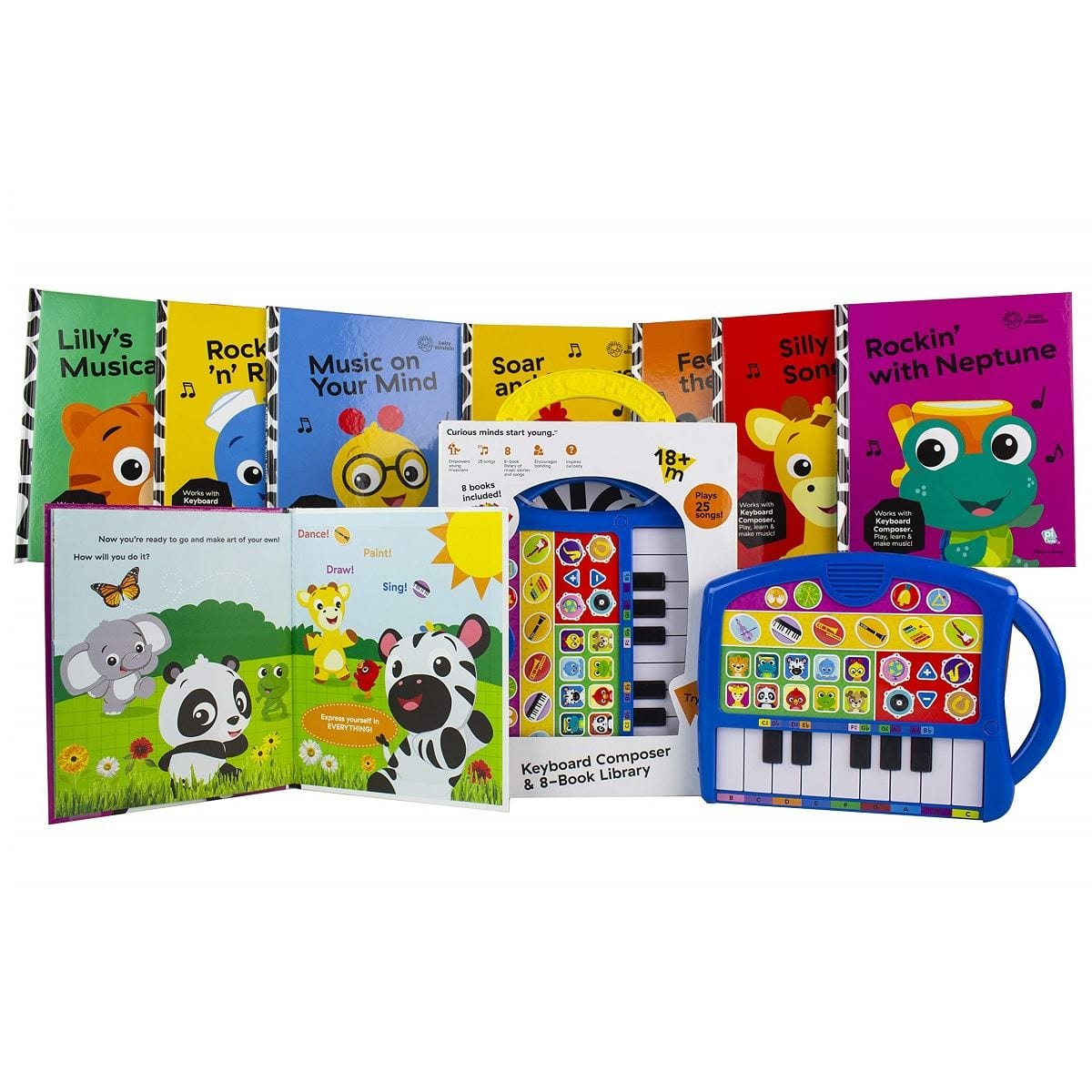 Baby Einstein - Keyboard Composer and 8-Book Library