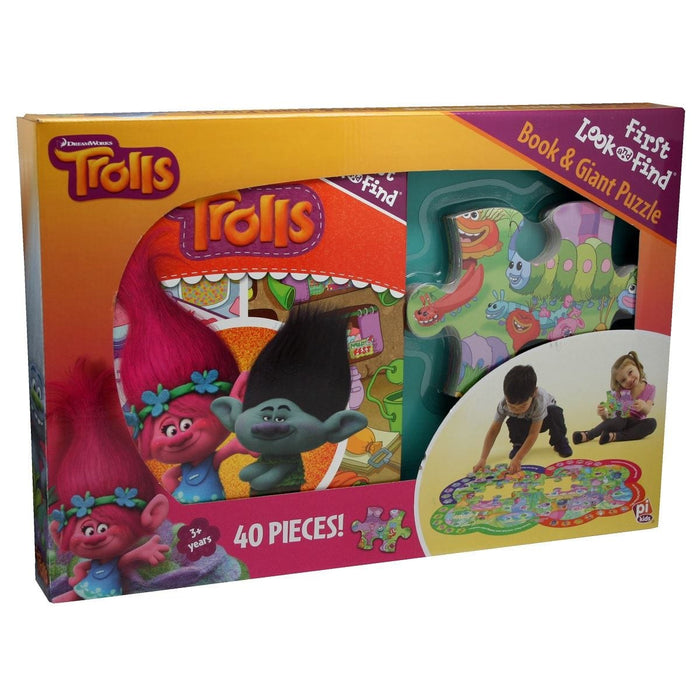 Trolls First Look and Find and Giant 40 Piece Puzzle