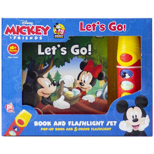 Mickey & Friends Let's Go - Book and Flashlight Set, [Product Type] - Daves Deals