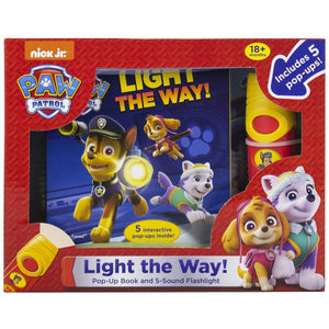 Paw Patrol - Pop-Up Book and 5-Sound Flashlight, [Product Type] - Daves Deals