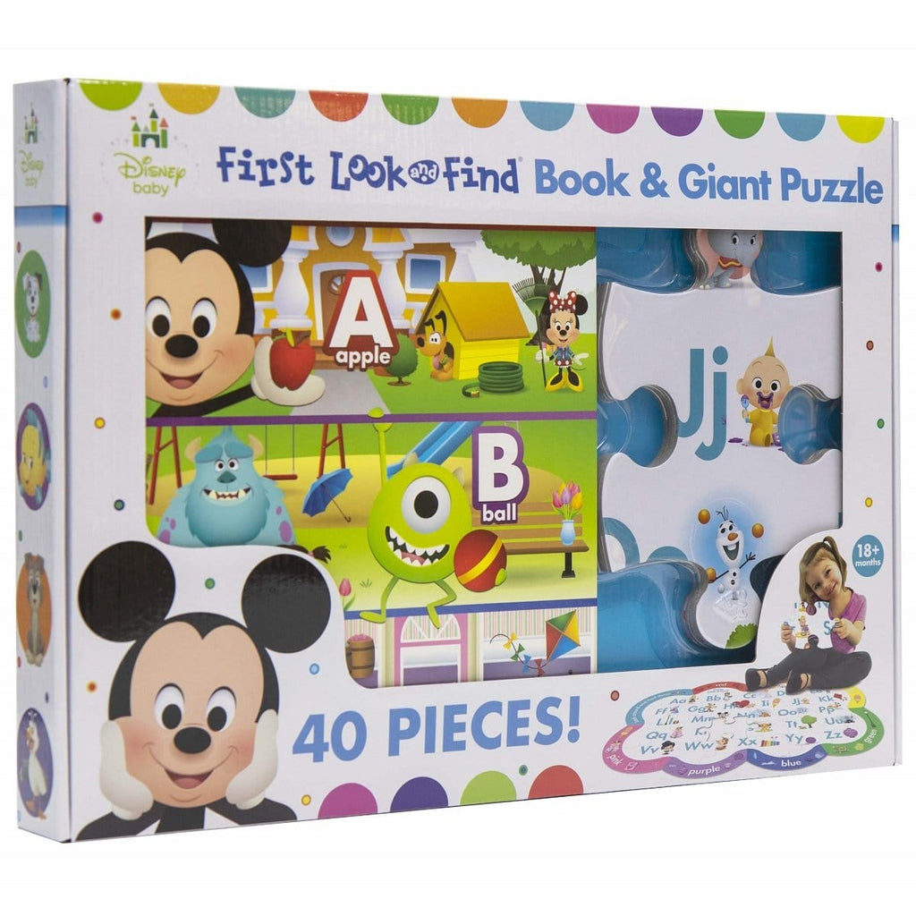 Disney Baby First Look & Find Book & Giant Puzzle