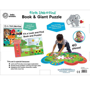 Baby Einstein First Look & Find Book & Giant Puzzle