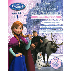 Disney Learning - Frozen Level 1: How to Read and Understand Learning Workbook, [Product Type] - Daves Deals