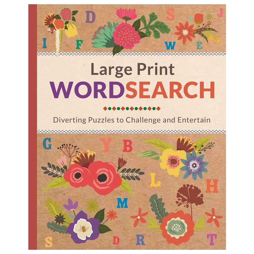 Large Print Wordsearch - Diverting Puzzles To Challenge And Entertain, [Product Type] - Daves Deals