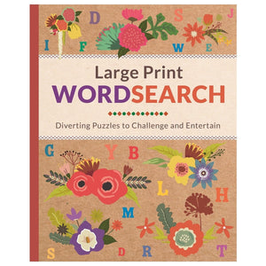 Large Print Wordsearch - Diverting Puzzles To Challenge And Entertain - Daves Deals