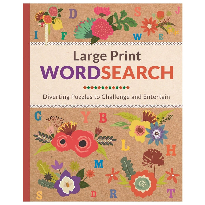 Large Print Wordsearch - Diverting Puzzles To Challenge And Entertain