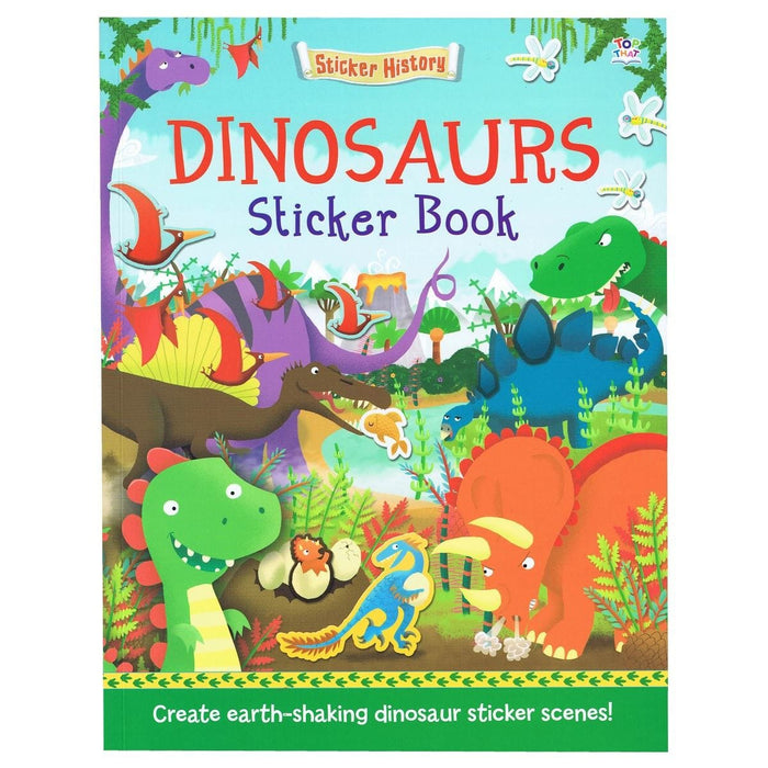 Sticker History - Dinosaurs Sticker Book