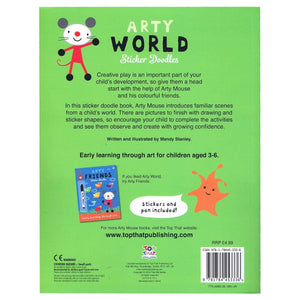Arty World Sticker Doodles - Early Learning Through Art, [Product Type] - Daves Deals