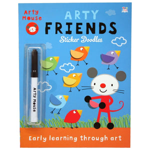Arty Friends Sticker Doodles - Early Learning Through Art - Daves Deals