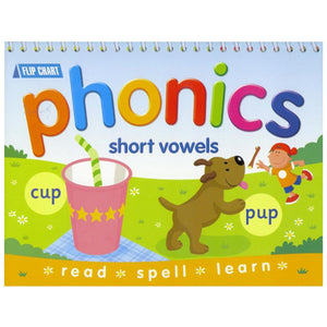 Phonics Flip Chart - Short Vowels, [Product Type] - Daves Deals