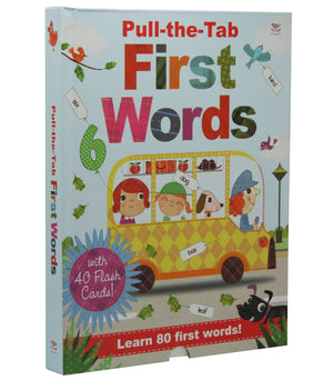 Pull-the-Tab First Words with Flash Cards Learning Stations - By Oakley Graham, Steph Hinton (Illustrator) - Books - Daves Deals