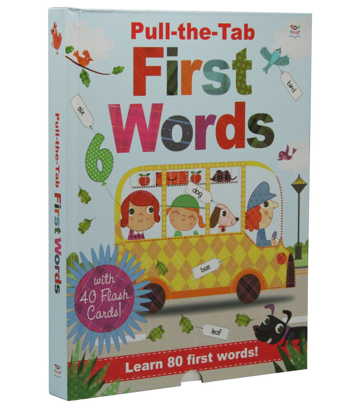 Pull-The-Tab First Words - By Oakley Graham, Illustrated by Steph Hinton
