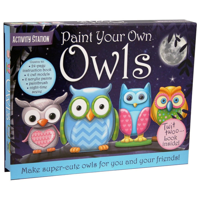 Paint Your Own Owls Activity Station