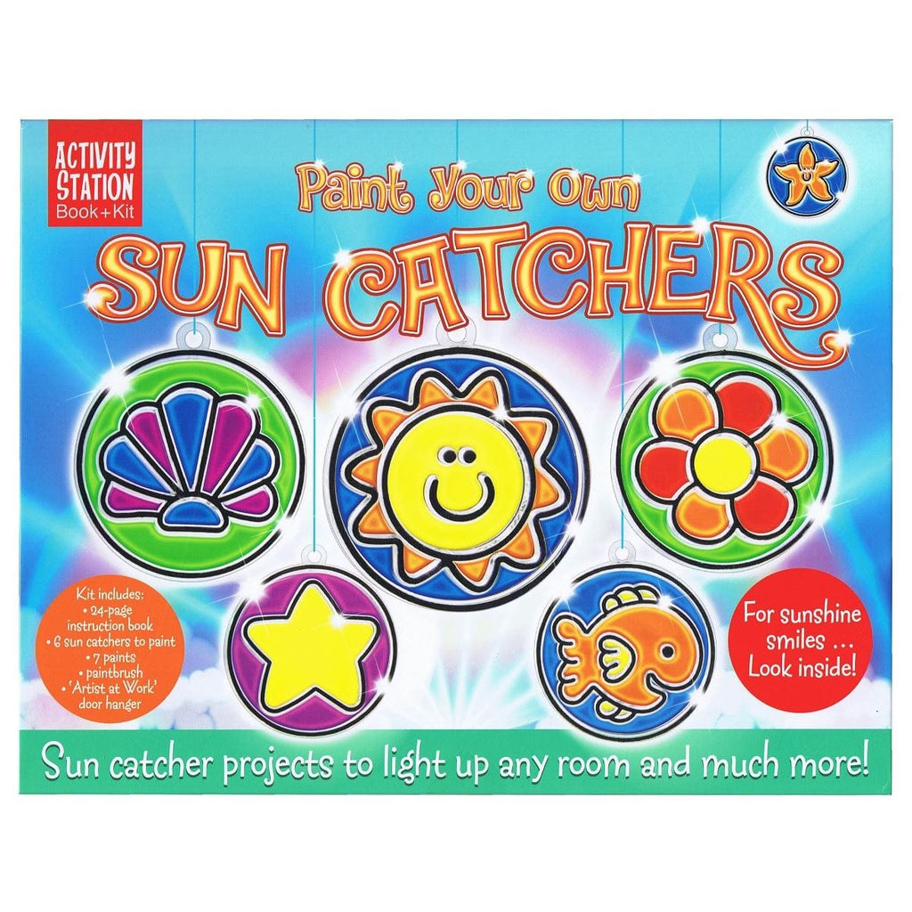 Paint Your Own Sun Catchers - Activity Station Book + Kit, [Product Type] - Daves Deals