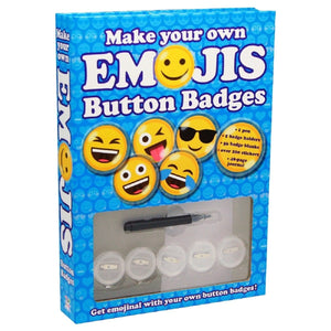 Make Your Own Emoji's Button Badges, [Product Type] - Daves Deals