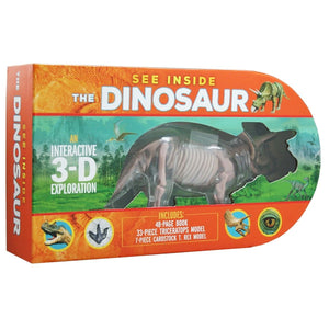 See Inside the Dinosaur An Interactive 3-D Exploration of a Triceratops, by Michael Bright, [Product Type] - Daves Deals