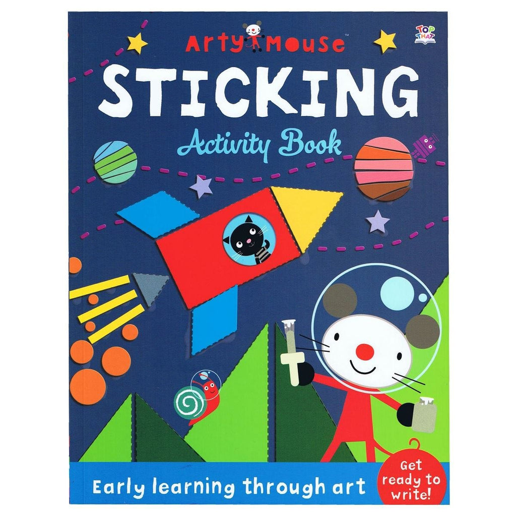 Arty Mouse Sticking Activity Book - Early Learning Through Art - Daves Deals