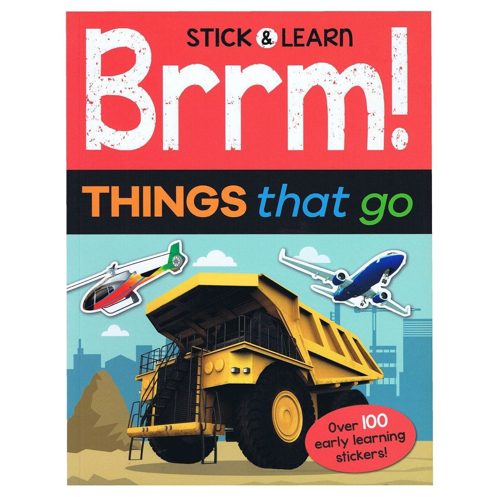 Stick & Learn Brrm! Things That Go