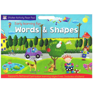 Early Learning Fun Sticker Activity Floor Pad - Words & Shapes - Daves Deals