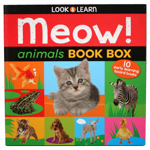 Look & Learn Meow! Animals Book Box