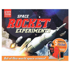 Space Rocket Experiments - Activity Station Book + Kit, [Product Type] - Daves Deals