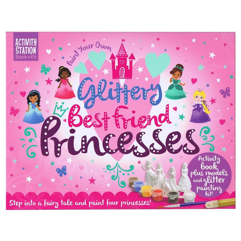 Paint Your Own Glittery Best Friend Princesses - Activity Station Book + Kit