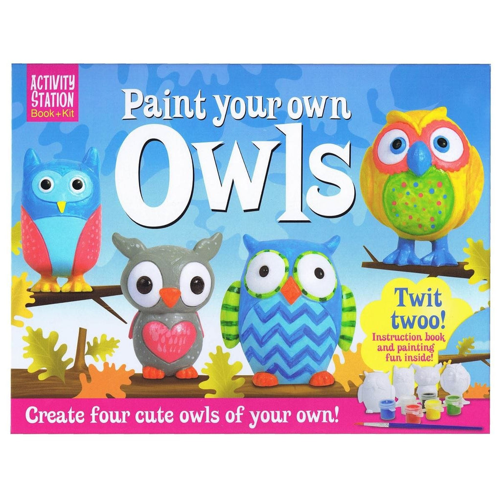 Paint Your Own Owls - Activity Station Book + Kit, [Product Type] - Daves Deals