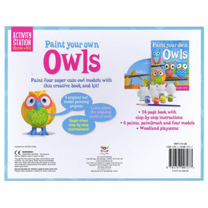 Paint Your Own Owls - Activity Station Book + Kit