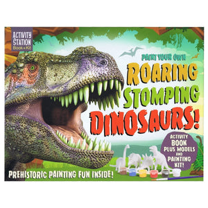 Paint Your Own Roaring Stomping Dinosaurs - Activity Station Book + Kit