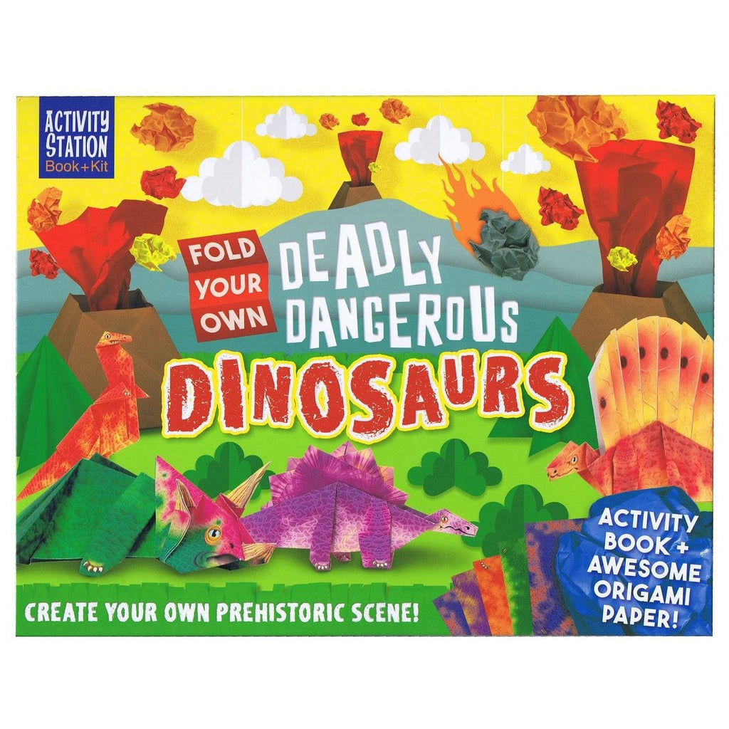 Fold Your Own Deadly Dangerous Dinosaurs - Activity Station Book + Kit