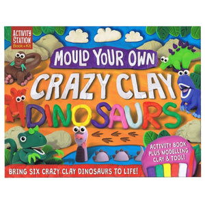 Mould Your Own Crazy Clay Dinosaurs - Activity Station Book + Kit, [Product Type] - Daves Deals