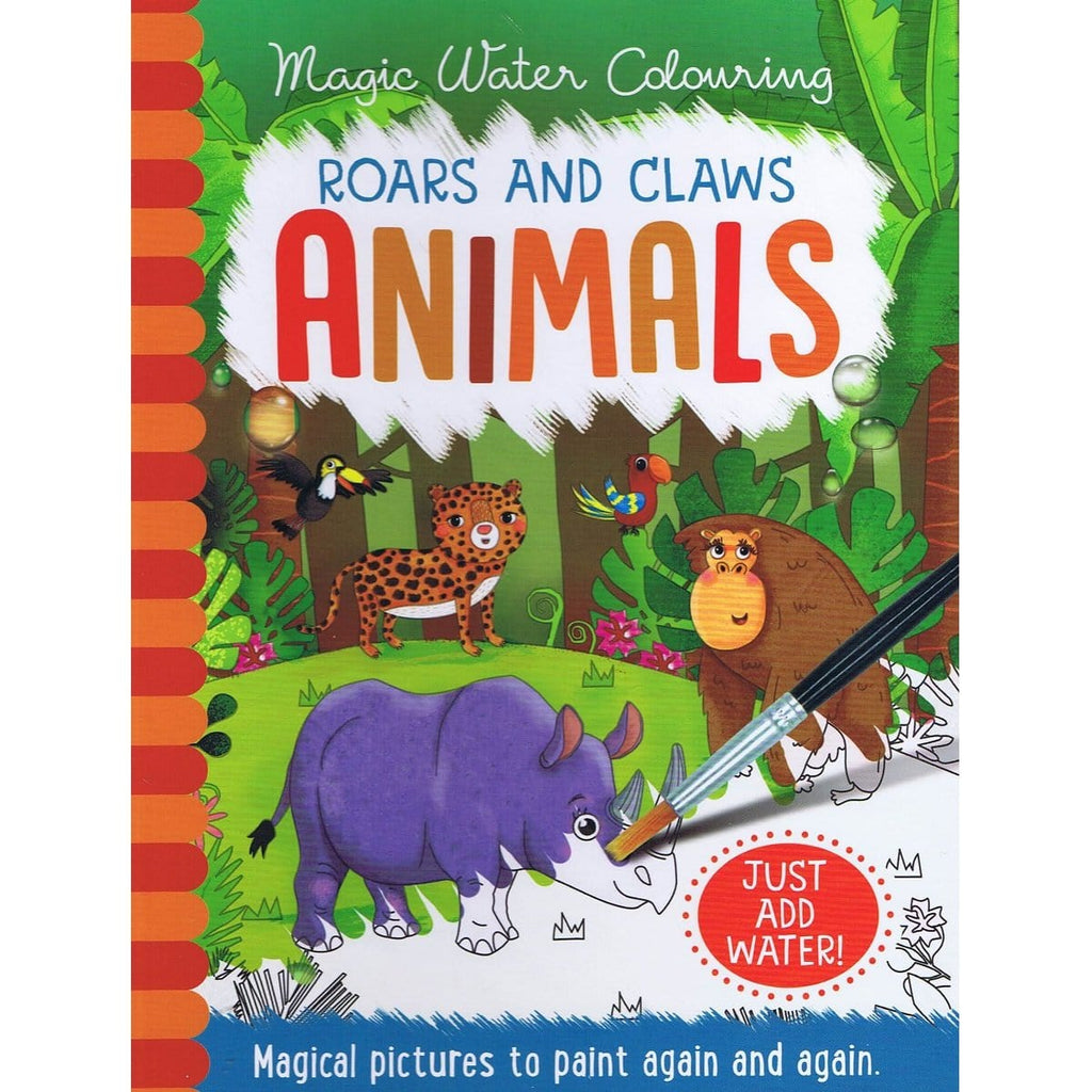 Magic Water Colouring Roars & Claws Animals, [Product Type] - Daves Deals