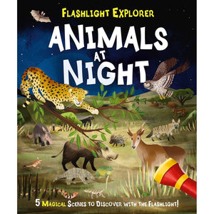 Flashlight Explorers Animals at Night: 5 Wild Scenes to Discover with the Press-Out Flashlight, [Product Type] - Daves Deals