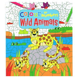 Colour By Numbers Wild Animals, [Product Type] - Daves Deals