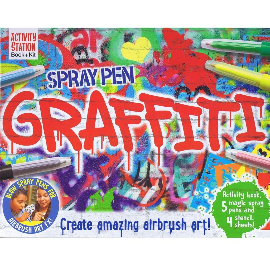Spray Pen Graffiti - Activity Station Book + Kit, [Product Type] - Daves Deals