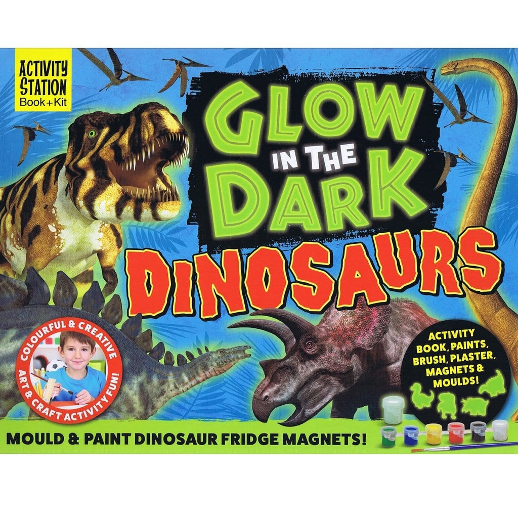 Glow In The Dark Dinosaurs - Activity Station Book + Kit - Daves Deals