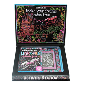 Scratch Art Unicorns - Activity Station Book + Kit