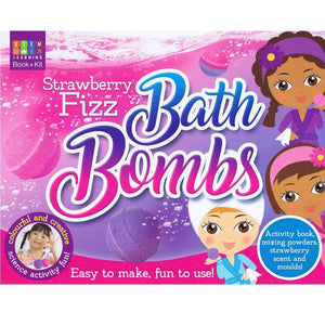 Strawberry Fizz Bath Bombs - Activity Station Book + Kit, [Product Type] - Daves Deals