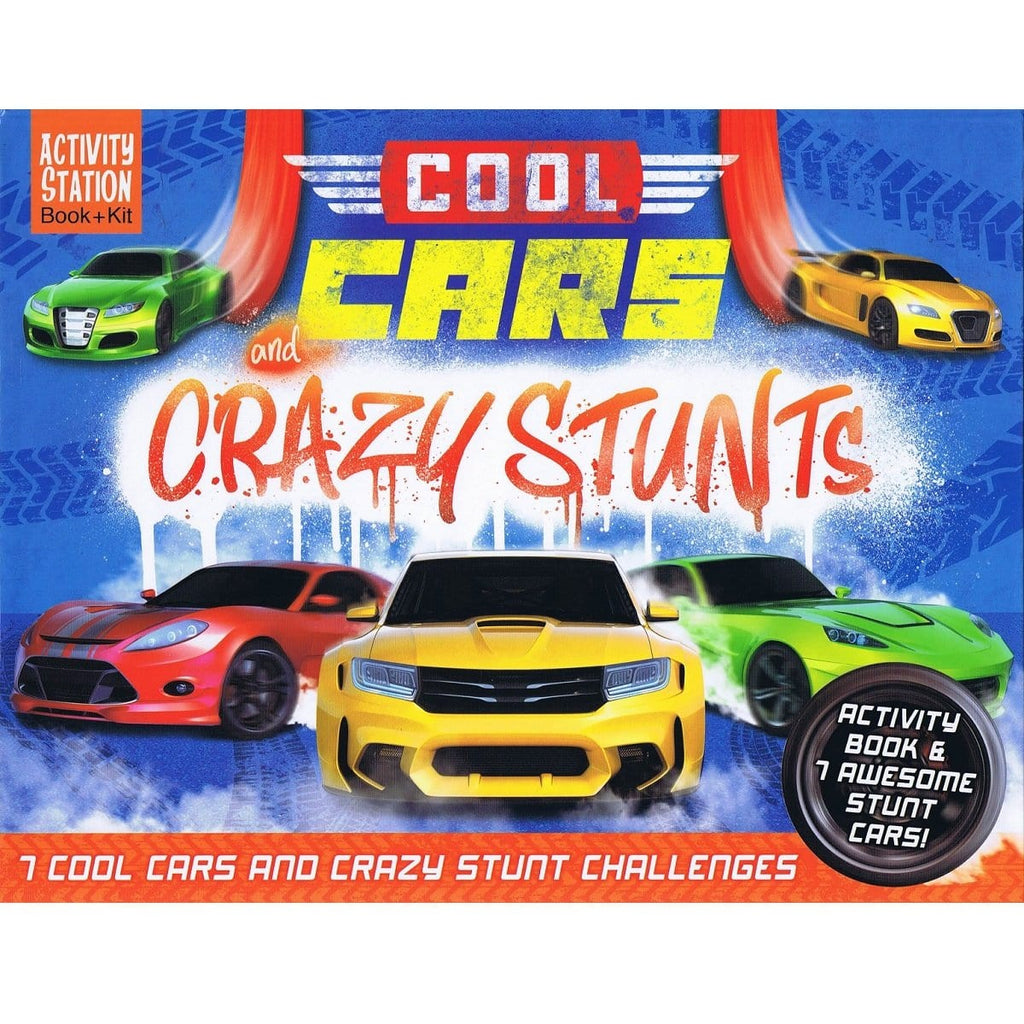 Cool Cars & Crazy Stunts - Activity Station Book + Kit