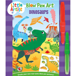 Little Artists -Blow Pen Art - Dinosaurs - Daves Deals