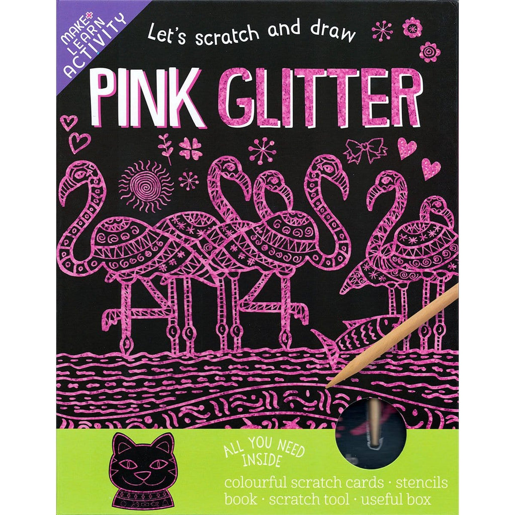 Scratch and Draw - Pink Glitter
