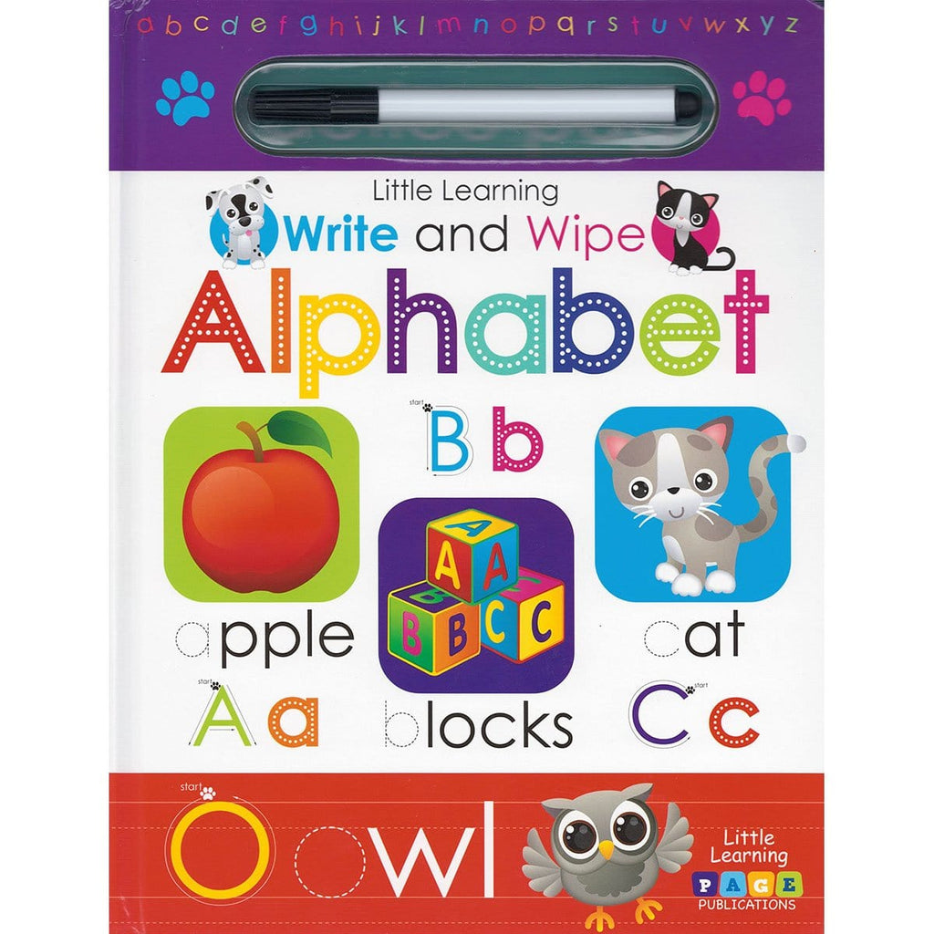 Little Learning: Write and Wipe: Alphabet - Daves Deals