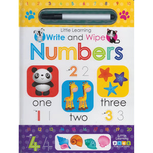 Little Learning: Write and Wipe: Numbers, [Product Type] - Daves Deals