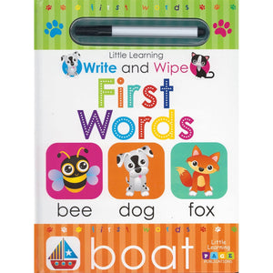 Little Learning: Write and Wipe: First Words, [Product Type] - Daves Deals