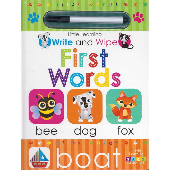 Little Learning: Write and Wipe: First Words
