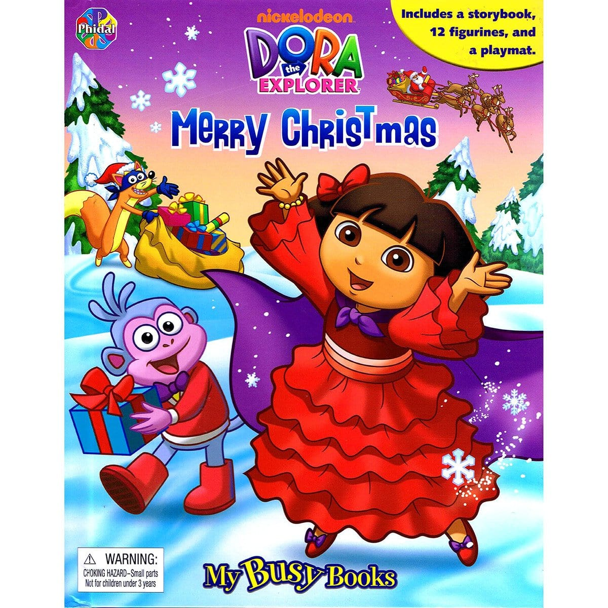 Dora The Explorer Merry Christmas - My Busy Books – Daves Deals