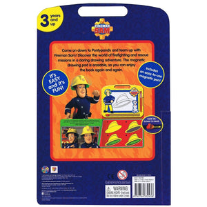 Fireman Sam - Learning Book with Magnetic Drawing Pad, [Product Type] - Daves Deals