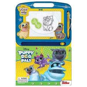 Puppy Dog Pals - Learning Book With Magnetic Drawing Pad - Daves Deals