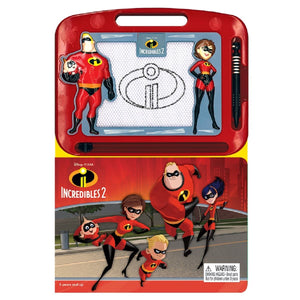 Incredibles 2 - Learning Book With Magnetic Drawing Pad